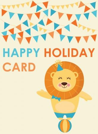 cute greeting card  vector illustration Stock Vector - 22734452