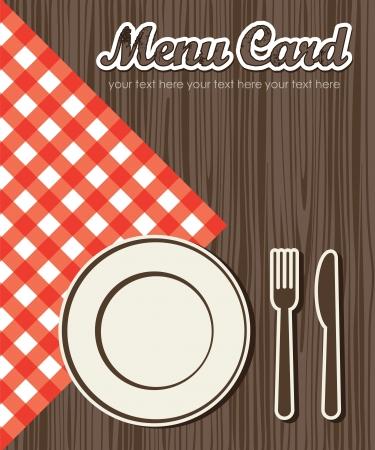 manteles: tarjeta del men? lindo. ilustraci?n vectorial