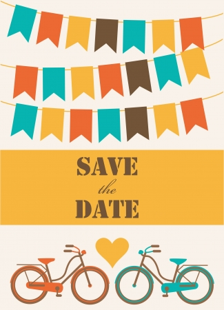 save the date card  vector illustration Stock Vector - 22729884