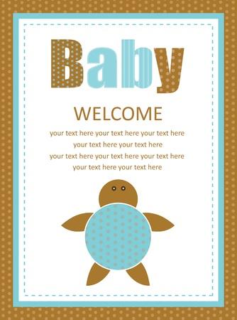baby shower card  vector illustration Stock Vector - 22729888
