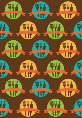 house ware: retro seamless kitchen pattern.