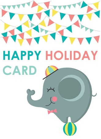 happy holiday card  vector illustration Vector