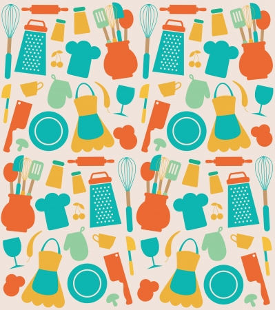seamless kitchen pattern.  Vector