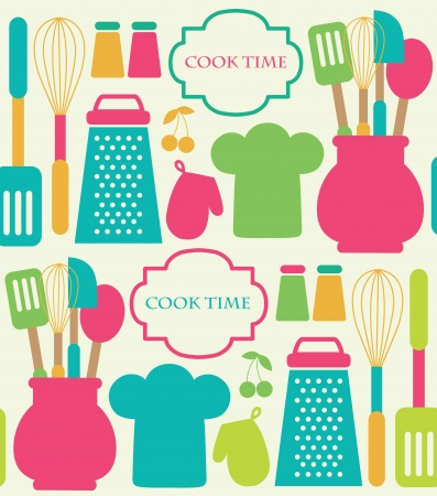 kitchen utensils: seamless kitchen pattern.