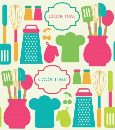 seamless pattern cucina.