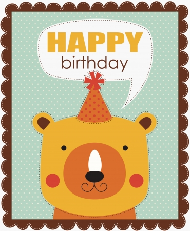 fun happy birthday card. Stock Vector - 20634064