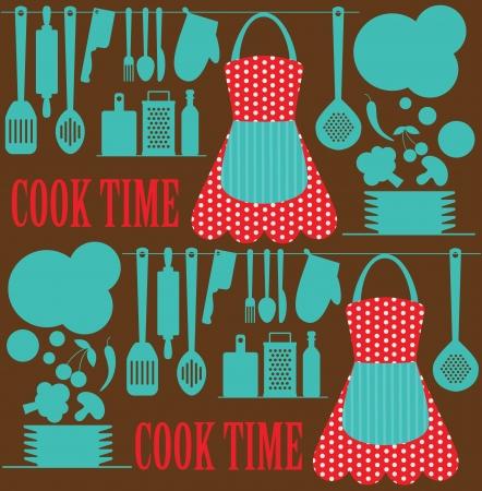 kuchnia: szwu kuchnia. ilustracji wektorowych