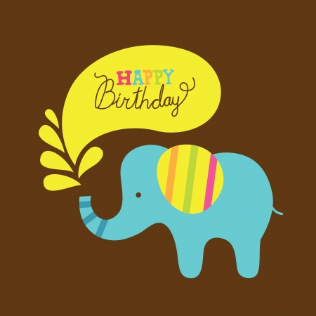 cute happy birthday card  vector illustration Vector