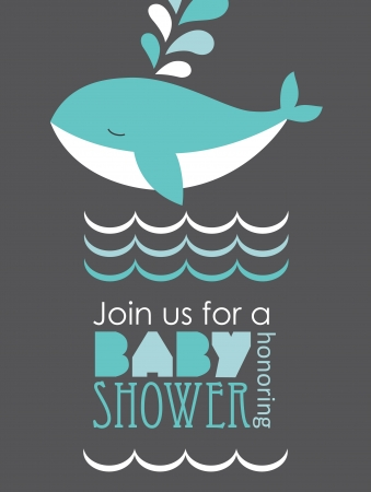 baby shower card design.  Vector