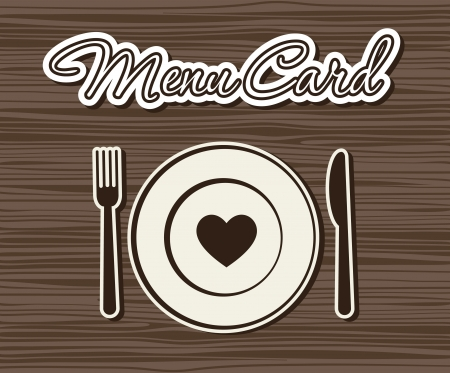 cute menu card.