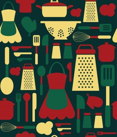 seamless kitchen pattern. Stock Vector - 20633390