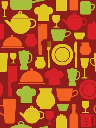 kitchen ware: kitchen pattern design.