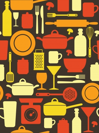 kitchen utensils: kitchen pattern design.