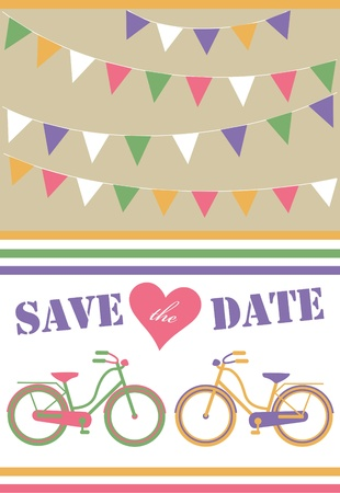 save the date card  vector illustration Stock Vector - 22730116