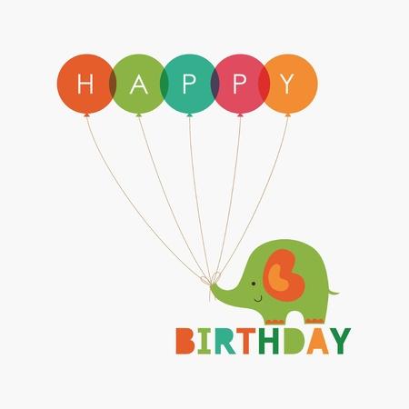 funny birthday: happy birthday card design.