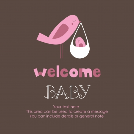welcome card design.  Vector