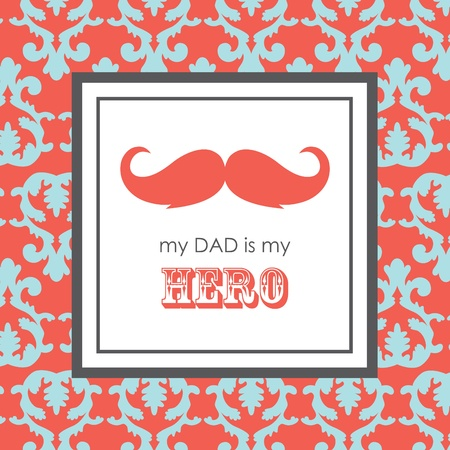 card with mustache for Father s Day  vector illustration Vector