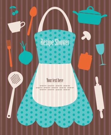 kitchen shower vector illustration