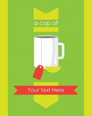 tea card design. Vector