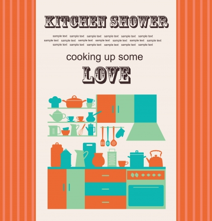 kitchen shower  vector illustration Vector