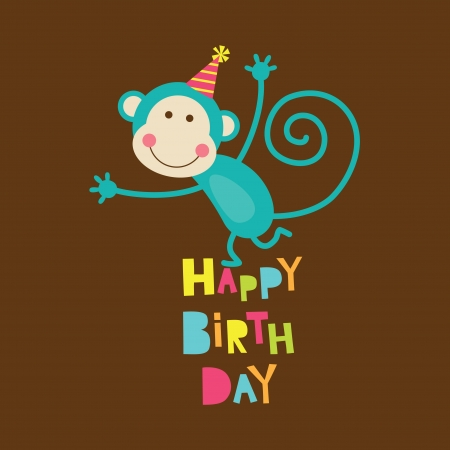 happy birthday card  vector illustration Vector