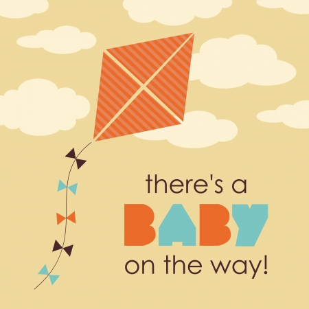 welcome baby card design.  Vector