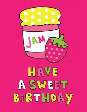 cute happy birthday card design  vector illustration Vector