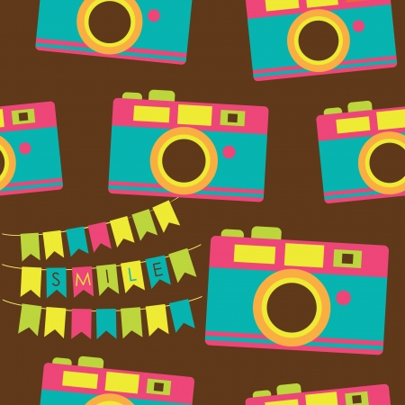 cute photography pattern design. vector illustration Vector