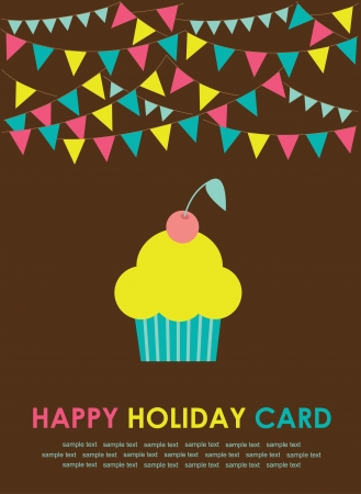 cute greeting card  illustration Vector