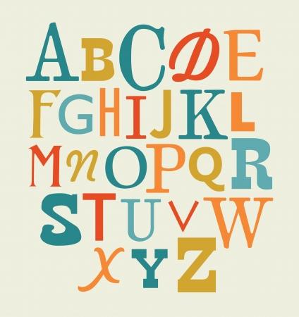 bright alphabet: alphabet design.