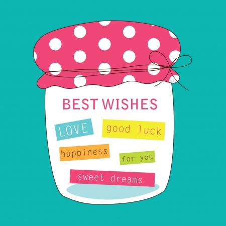 cute greeting card  illustration Stock Vector - 22574299