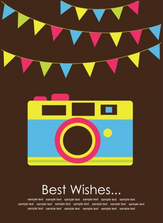 cute card with camera  vector illustration Stock Vector - 22574323