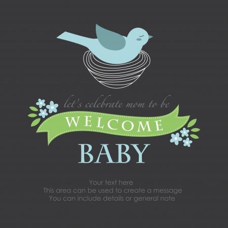 shes having a baby card design. Vector