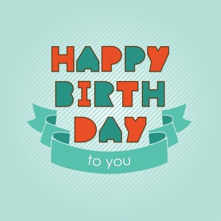 happy birthday card design.  Vector
