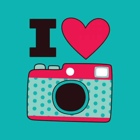 cute card with camera  illustration Stock Vector - 22574430