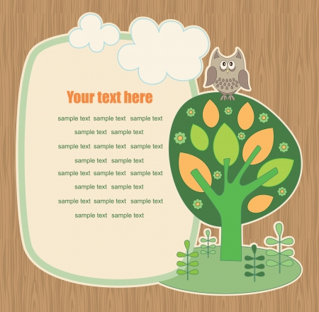 cute ecology banner. vector illustration Vector