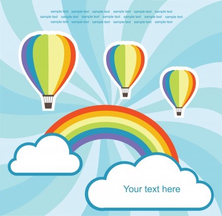 abstract background with air balloon illustration Vector