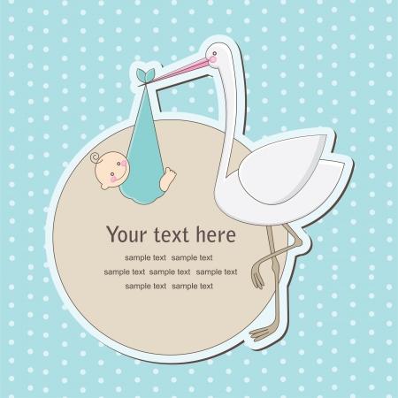 fiúk: kisfiú bejelentése kártya. vektoros illusztráció