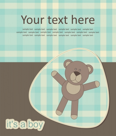 baby bear greeting card. vector illustration Vector