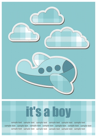 baby greeting card. vector illustration Illustration