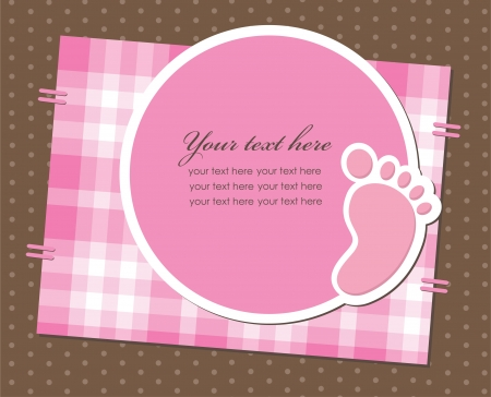 baby girl announcement card. vector illustration Vector