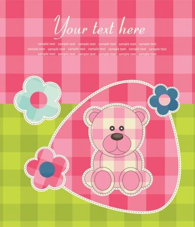 baby announcement card. vector illustration Vector