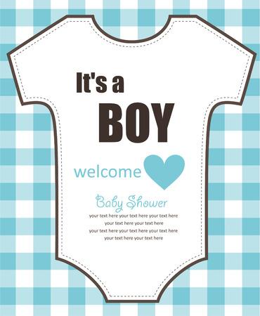 fiúk: aranyos baba zuhany design. vektoros illusztráció Illusztráció