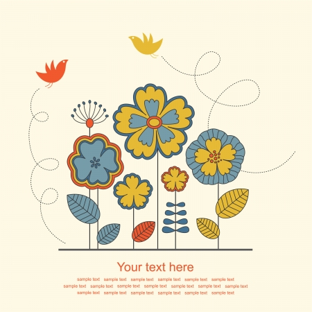 cute floral background. vector illustration Stock Vector - 22588215
