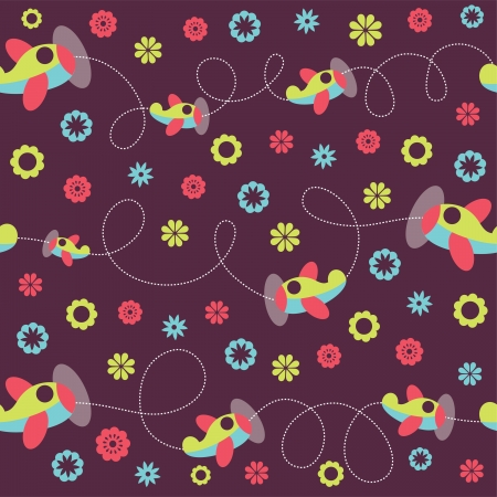 seamless baby pattern. vector illustration Vector