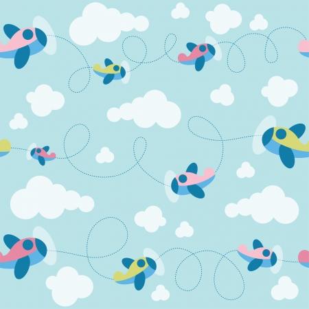 Baby nahtlose Muster. Vektor-Illustration Vektorgrafik