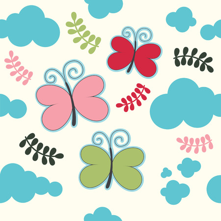 seamless childlike pattern. vector illustration Vector