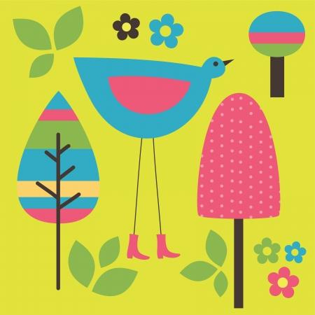 childlike: seamless childlike pattern. vector illustration