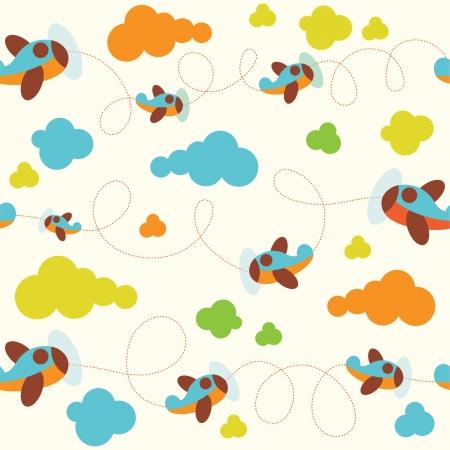 patrón de bebé sin problemas. ilustración vectorial