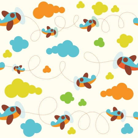 seamless sky: seamless baby pattern. vector illustration